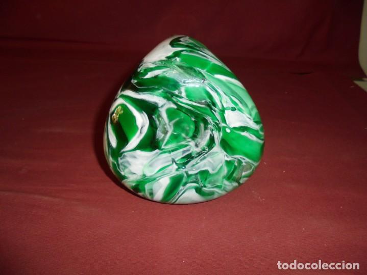 Antigüedades: magnifico antiguo jarron de cristal de murano preciosos colores - Foto 4 - 246896880