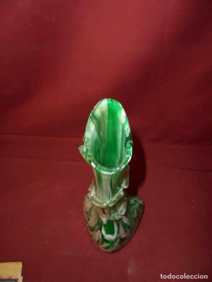 Antigüedades: magnifico antiguo jarron de cristal de murano preciosos colores - Foto 5 - 246896880