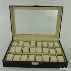 Antiquités: EXCELENTE CAJA MOSTRADOR PARA GUARDAR RELOJES. Lote 246909360