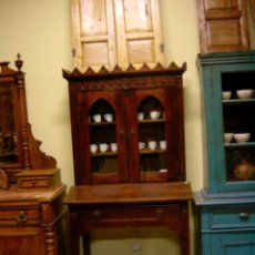 Antigüedades: VITRINA, CONSOLA DE ENTRADA ESTILO COLONIAL, CON 1 CAJON. Lote 246916490