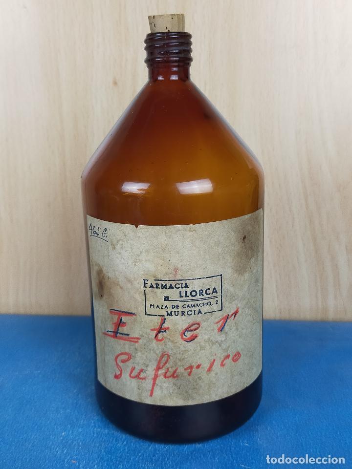 EXTRACTO ESENCIA ETER CRISTAL FARMACIA (Antigüedades - Cristal y Vidrio - Farmacia )