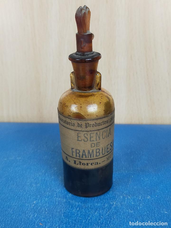 EXTRACTO ESENCIA FRAMBUESA CRISTAL FARMACIA (Antigüedades - Cristal y Vidrio - Farmacia )