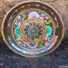 Antigüedades: BANDEJA MADERA PINTADA A MANO.. Lote 246983330