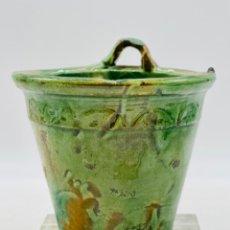 Antiquités: MACETERO DE CERÁMICA. TITO ÚBEDA. Lote 246997535