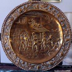 Antigüedades: GRAN PLATO CON RELIEVE. Lote 247101220