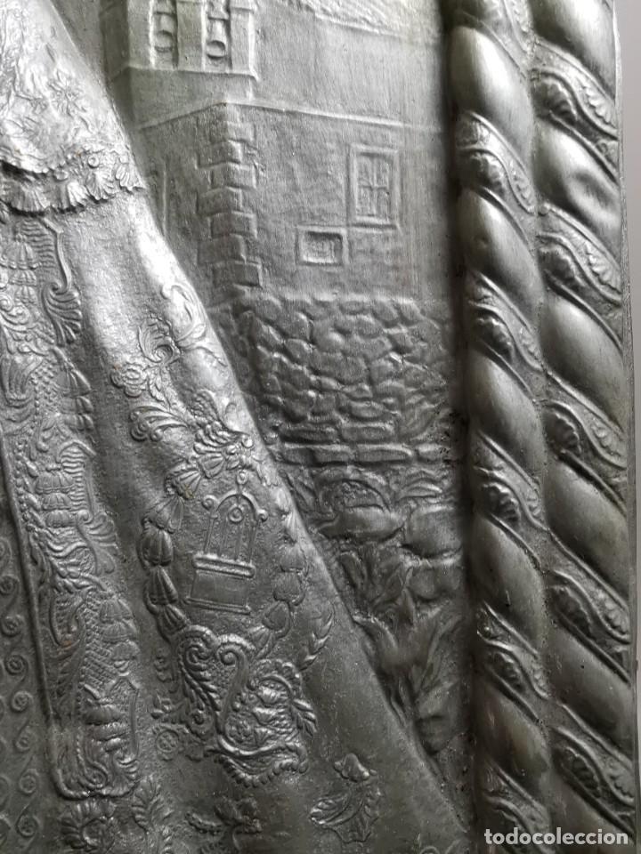 Antigüedades: CUADRO VIRGEN NUESTRA SEÑORA DEL CASTAÑAR-BEJAR -SALAMANCA-METAL CINCELADO Y REPUJADO.FIRMA MORERA. - Foto 18 - 247103550