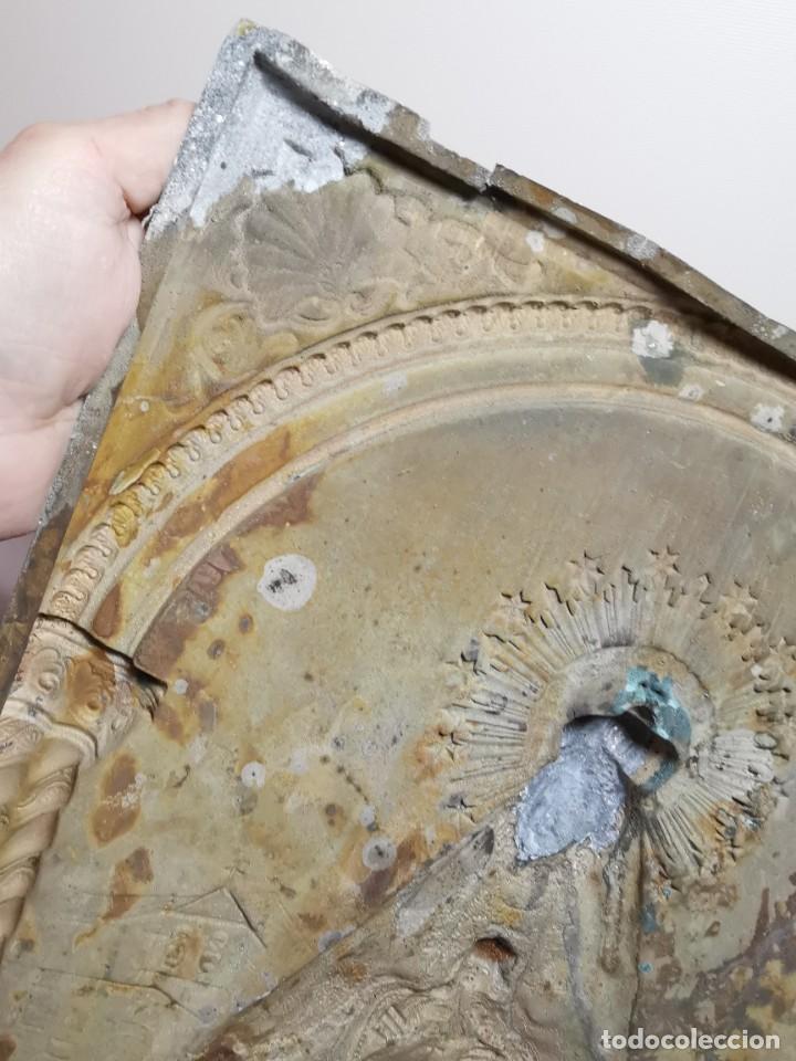 Antigüedades: CUADRO VIRGEN NUESTRA SEÑORA DEL CASTAÑAR-BEJAR -SALAMANCA-METAL CINCELADO Y REPUJADO.FIRMA MORERA. - Foto 32 - 247103550