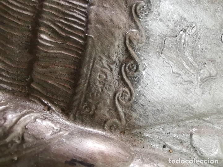 Antigüedades: CUADRO VIRGEN NUESTRA SEÑORA DEL CASTAÑAR-BEJAR -SALAMANCA-METAL CINCELADO Y REPUJADO.FIRMA MORERA. - Foto 44 - 247103550