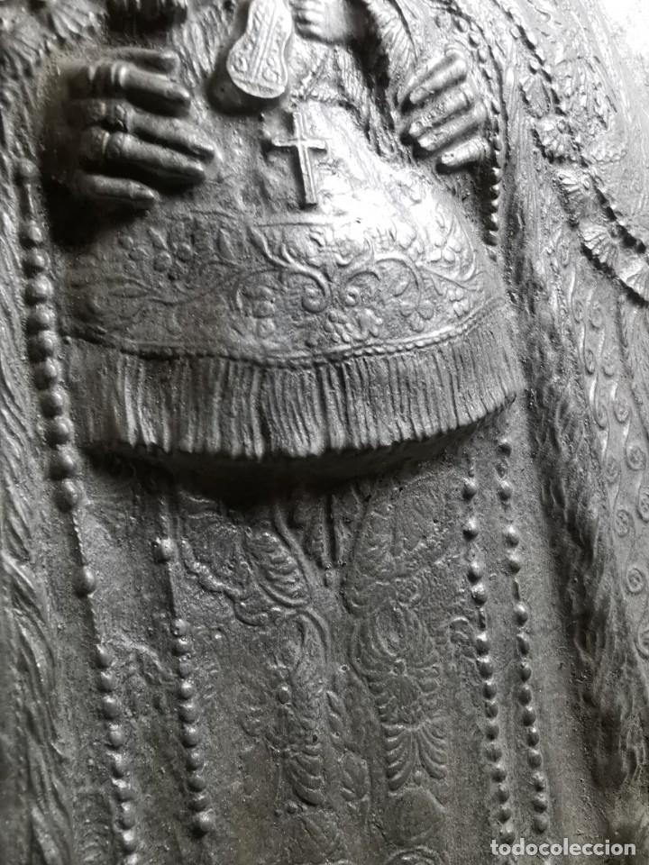 Antigüedades: CUADRO VIRGEN NUESTRA SEÑORA DEL CASTAÑAR-BEJAR -SALAMANCA-METAL CINCELADO Y REPUJADO.FIRMA MORERA. - Foto 54 - 247103550