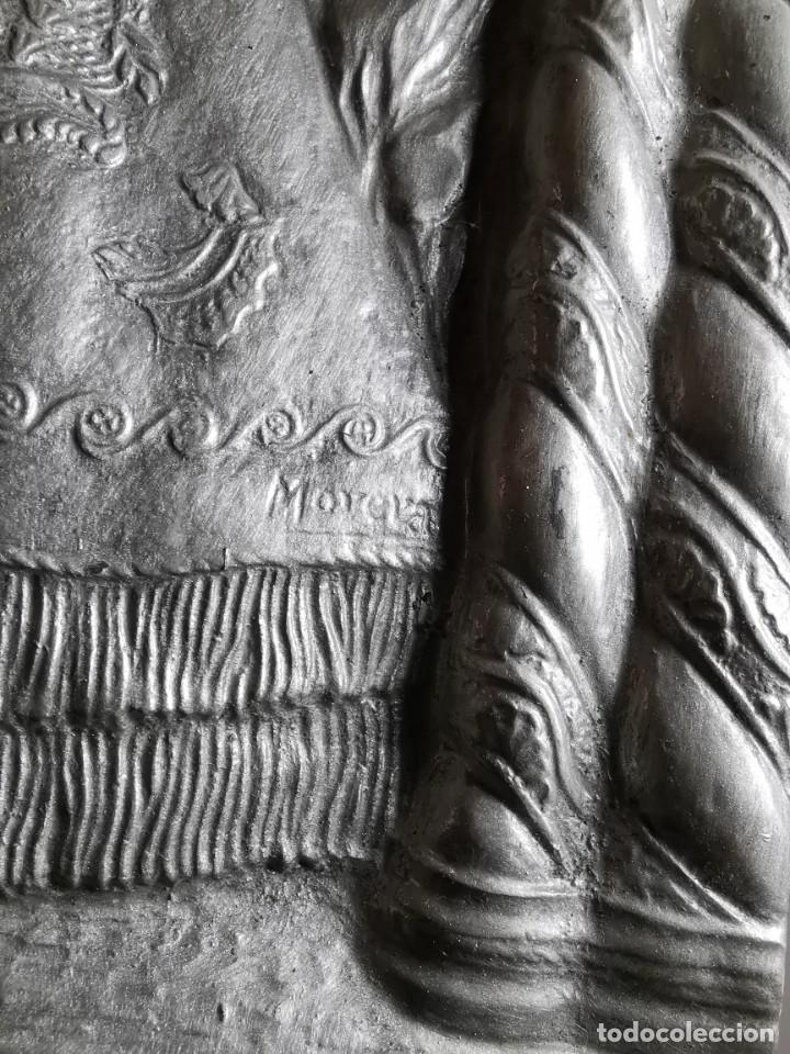 Antigüedades: CUADRO VIRGEN NUESTRA SEÑORA DEL CASTAÑAR-BEJAR -SALAMANCA-METAL CINCELADO Y REPUJADO.FIRMA MORERA. - Foto 55 - 247103550