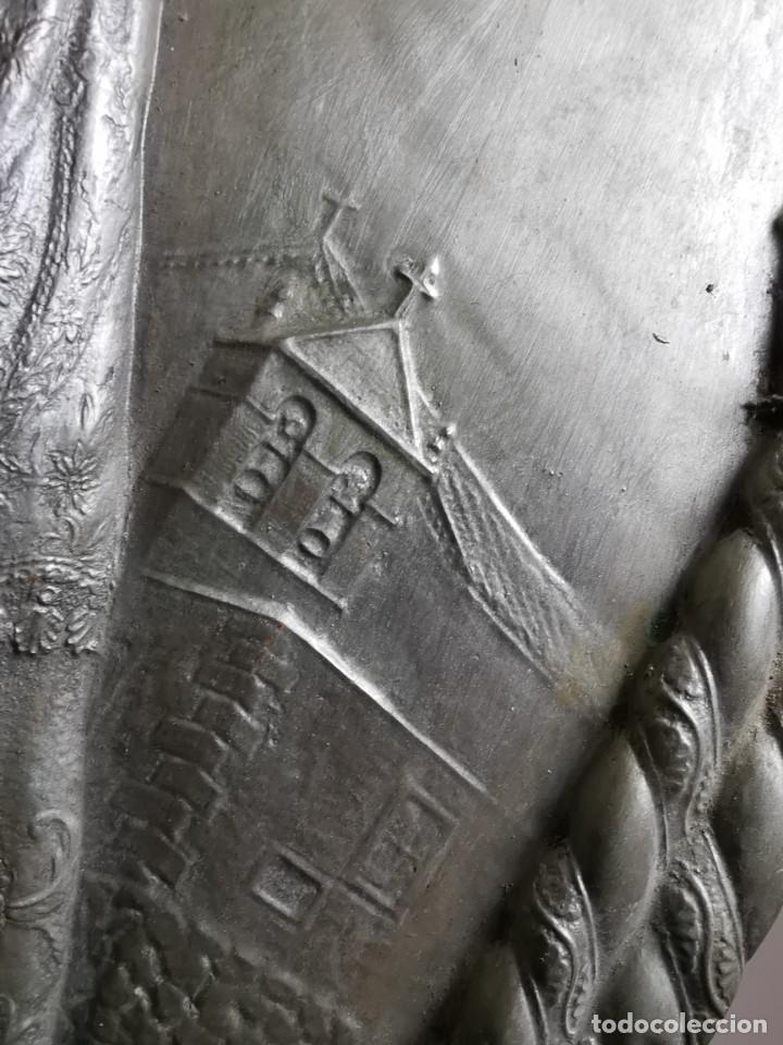 Antigüedades: CUADRO VIRGEN NUESTRA SEÑORA DEL CASTAÑAR-BEJAR -SALAMANCA-METAL CINCELADO Y REPUJADO.FIRMA MORERA. - Foto 56 - 247103550