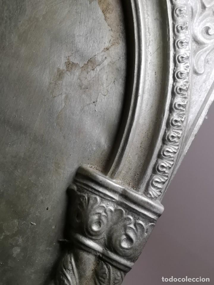 Antigüedades: CUADRO VIRGEN NUESTRA SEÑORA DEL CASTAÑAR-BEJAR -SALAMANCA-METAL CINCELADO Y REPUJADO.FIRMA MORERA. - Foto 57 - 247103550