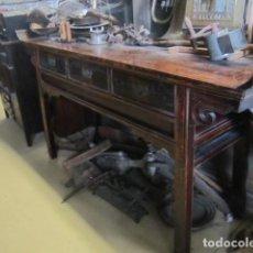 Antigüedades: CONSOLA ALTAR CHINO ANTIGUO SXIX. Lote 247118480