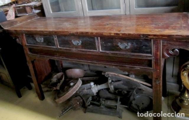 Antigüedades: Consola altar chino antiguo SXIX - Foto 4 - 247118480