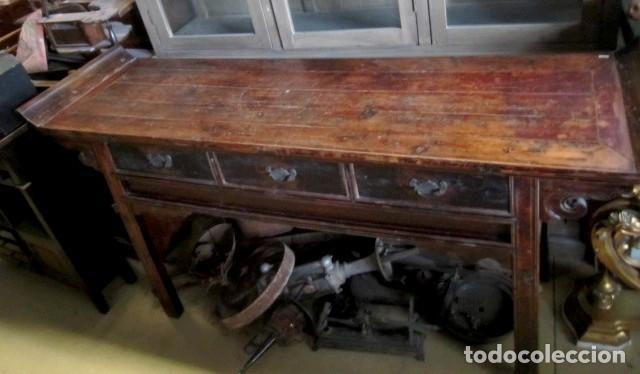 Antigüedades: Consola altar chino antiguo SXIX - Foto 6 - 247118480