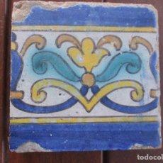 Antigüedades: AZULEJO PINTADO SIGLO XVII. Lote 247126355