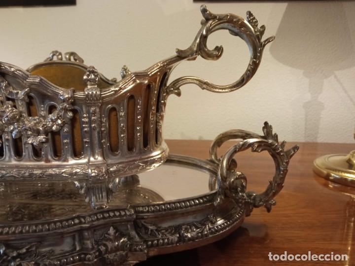 Antigüedades: Surtout de table Louis XVI y Jardinera. Metal plateado - Foto 5 - 247144195