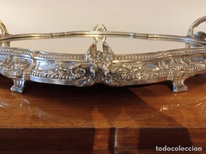 Antigüedades: Surtout de table Louis XVI y Jardinera. Metal plateado - Foto 9 - 247144195