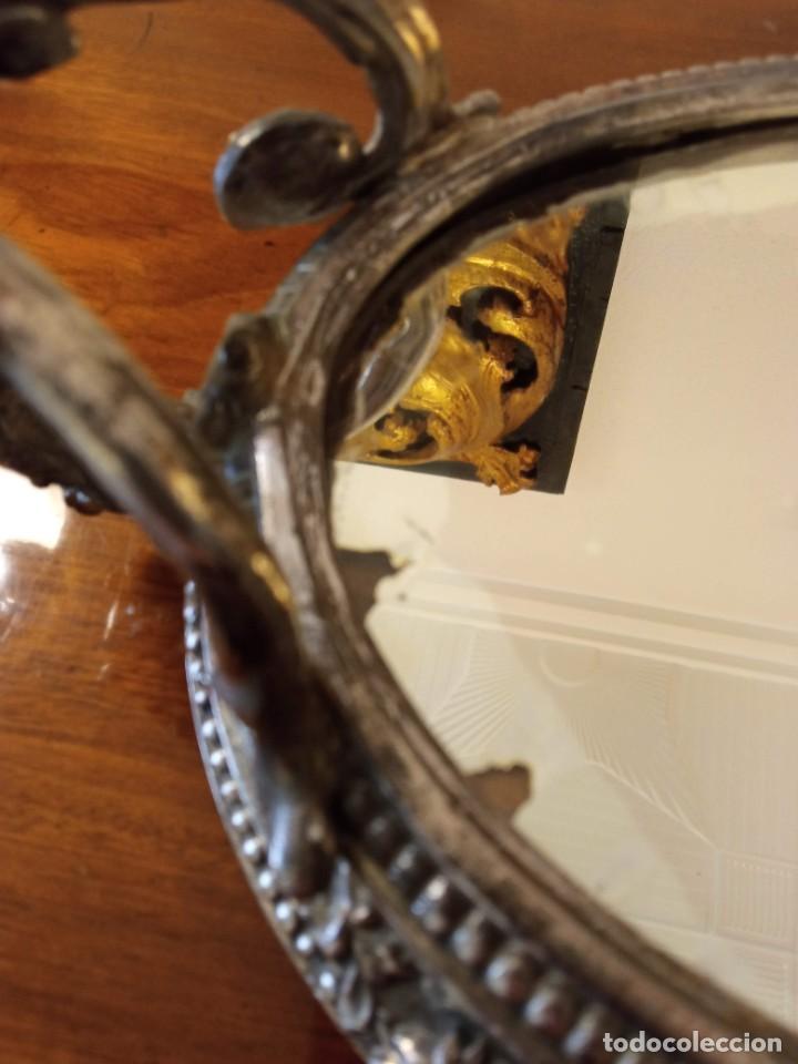 Antigüedades: Surtout de table Louis XVI y Jardinera. Metal plateado - Foto 12 - 247144195