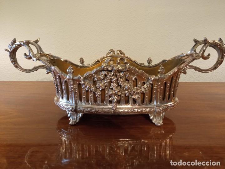 Antigüedades: Surtout de table Louis XVI y Jardinera. Metal plateado - Foto 14 - 247144195