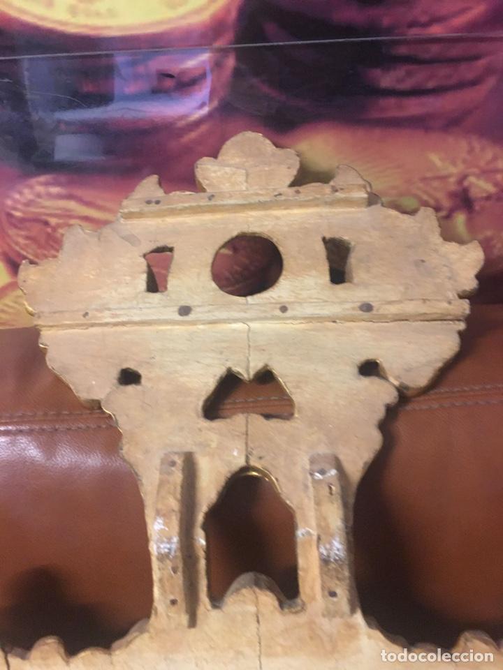 Antigüedades: Espejo Sec XXVlll / XlX cornucopias con marcos en madera tallada y fino pan de oro. - Foto 7 - 247173285