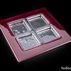 Antigüedades: CABARET 4 DEPARTAMENTOS AXUM DE BOHEMIA AMATISTA 26X26-ARTÍCULO NUEVO. Lote 247181720