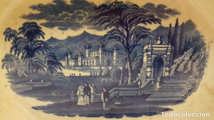 Antigüedades: FUENTE BANDEJA SAN JUAN AZNALFARACHE SXIX COLOR AZUL - Foto 3 - 247193560