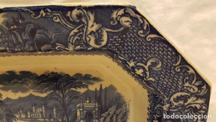Antigüedades: FUENTE BANDEJA SAN JUAN AZNALFARACHE SXIX COLOR AZUL - Foto 5 - 247193560