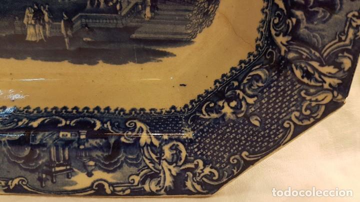 Antigüedades: FUENTE BANDEJA SAN JUAN AZNALFARACHE SXIX COLOR AZUL - Foto 7 - 247193560