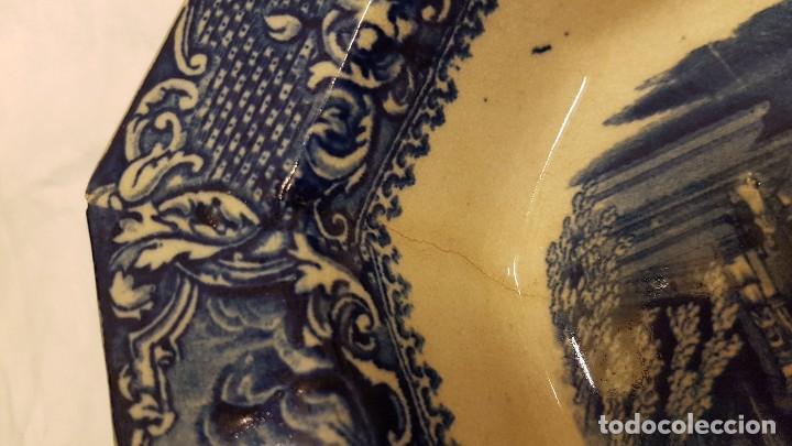 Antigüedades: FUENTE BANDEJA SAN JUAN AZNALFARACHE SXIX COLOR AZUL - Foto 16 - 247193560