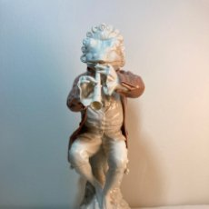 Antigüedades: FIGURA PORCELANA- ESPAÑA- ALGORA - RANA MÚSICO- 28 CM. Lote 247235835