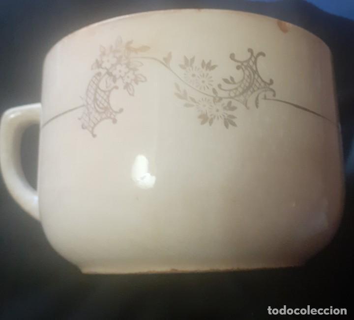 Antigüedades: Antiguo tazon de desayuno de porcelanas San Claudio - Foto 3 - 247258035