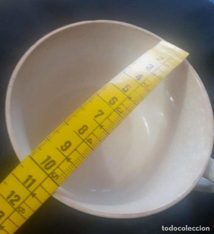 Antigüedades: Antiguo tazon de desayuno de porcelanas San Claudio - Foto 4 - 247258035