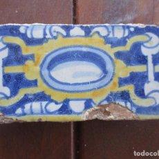Antigüedades: AZULEJO CENEFA PINTADA SIGLO XVI. Lote 247320010