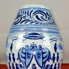 Antigüedades: JARRÓN TALAVERA. CERÁMICA ESMALTADA. MARCAS LCP. ESPAÑA. SIGLO XX. Lote 247359785