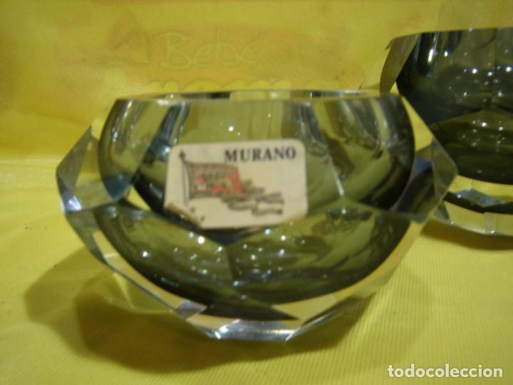 Antigüedades: Juego fumador cristal de Murano, años 70, Nuevo sin usar. - Foto 4 - 247372045