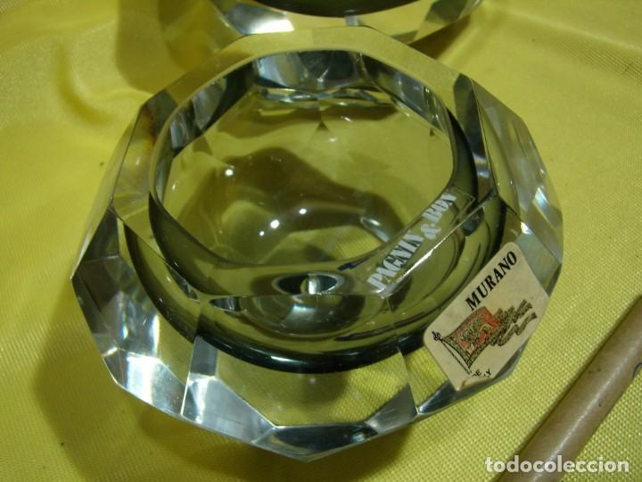 Antigüedades: Juego fumador cristal de Murano, años 70, Nuevo sin usar. - Foto 6 - 247372045