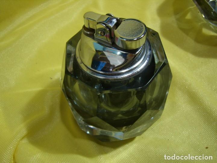 Antigüedades: Juego fumador cristal de Murano, años 70, Nuevo sin usar. - Foto 7 - 247372045