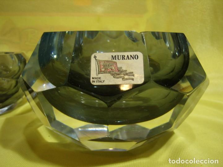Antigüedades: Juego fumador cristal de Murano, años 70, Nuevo sin usar. - Foto 8 - 247372045