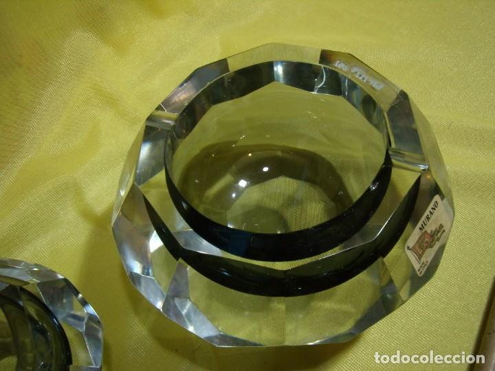 Antigüedades: Juego fumador cristal de Murano, años 70, Nuevo sin usar. - Foto 9 - 247372045