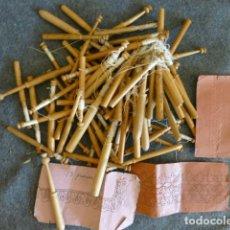 Antigüedades: PALOS DE BOJ PARA BOLILLOS. Lote 247379495