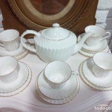 Antigüedades: JUEGO DE CAFÉ BONE CHINA ENGLAND, 5 SERVICIOS. Lote 247382725