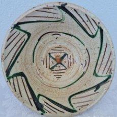 Antigüedades: MUY BONITO CUENCO VERDE Y MANGANESO EN CERAMICA DE TERUEL,S. XIX. Lote 247423345