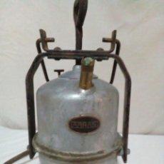 Antigüedades: LAMPARA DE CARBURO DE MINA MARCA ARRAS. Lote 247443380