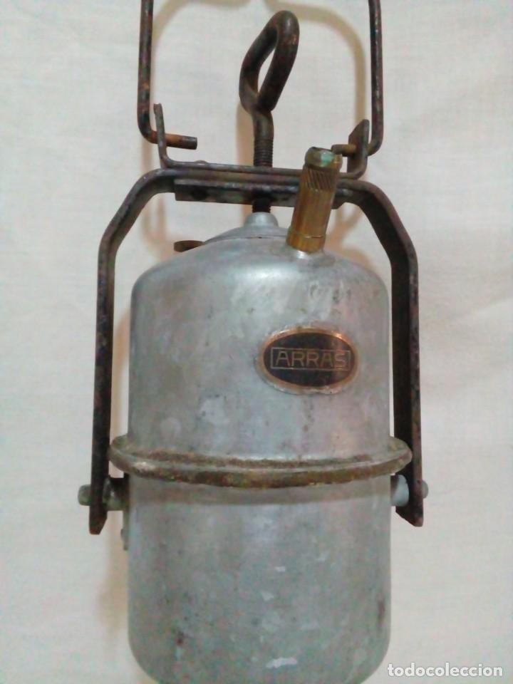 Antigüedades: lampara de carburo de mina marca ARRAS - Foto 2 - 247443380