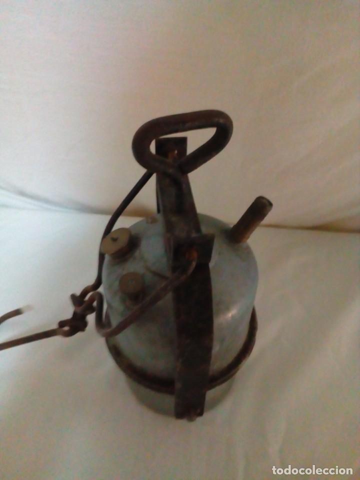 Antigüedades: lampara de carburo de mina marca ARRAS - Foto 6 - 247443380