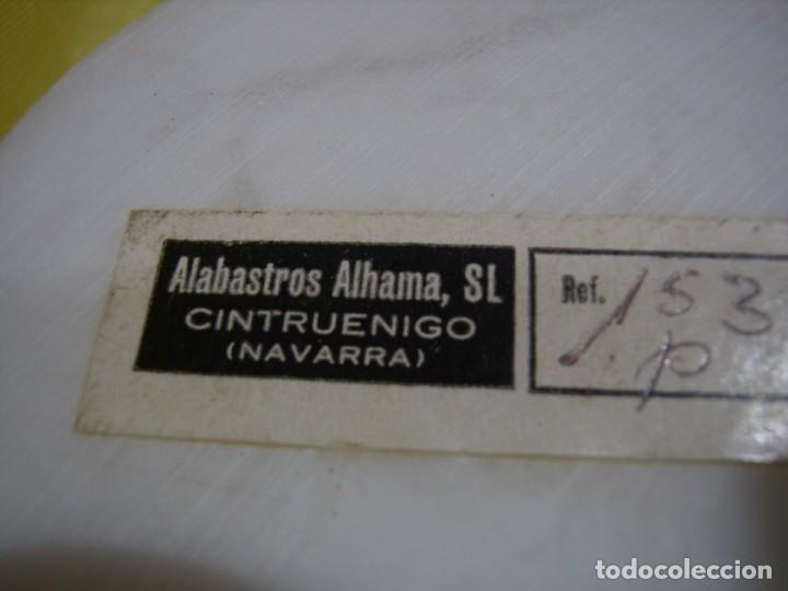 Antigüedades: Caja joyero algodonera alabastro de Alabastros Alhama Navarra, años 70, Nueva sin usar. - Foto 4 - 247470740