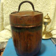 Antigüedades: RARA CHOCOLATERA DE COBRE. Lote 247476715