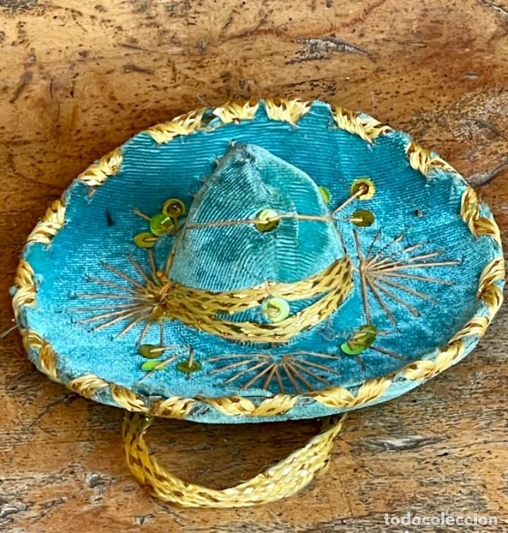 SOMBRERO MEXICANO EN MINIATURA (Antigüedades - Moda - Sombreros Antiguos)
