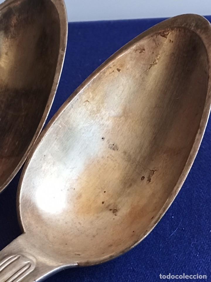 Antigüedades: Cuatro cucharas viejas, 1870, de Inglaterra, plateado - Foto 5 - 247515230